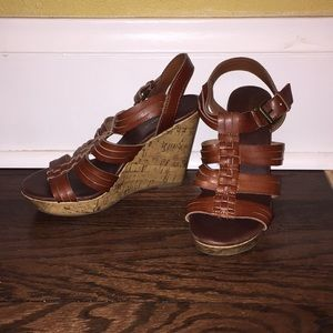 Mossimo Brown Wedges- Size 7 1/2